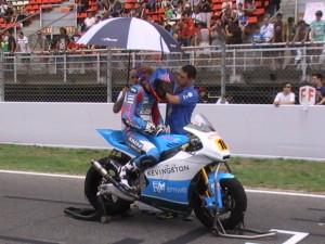 Raffin concentrado para la carrera a 9 vueltas