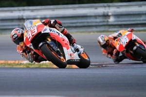 Marc y Dani en el circuito de Brno