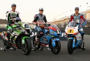 La foto de los Campeones en Cheste. Junto a Kenny Noyes y Fabio Quartararo