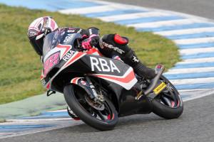 Ana en acción en el último test de Jerez