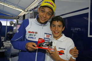 Rossi 'era' el ídolo de Marc