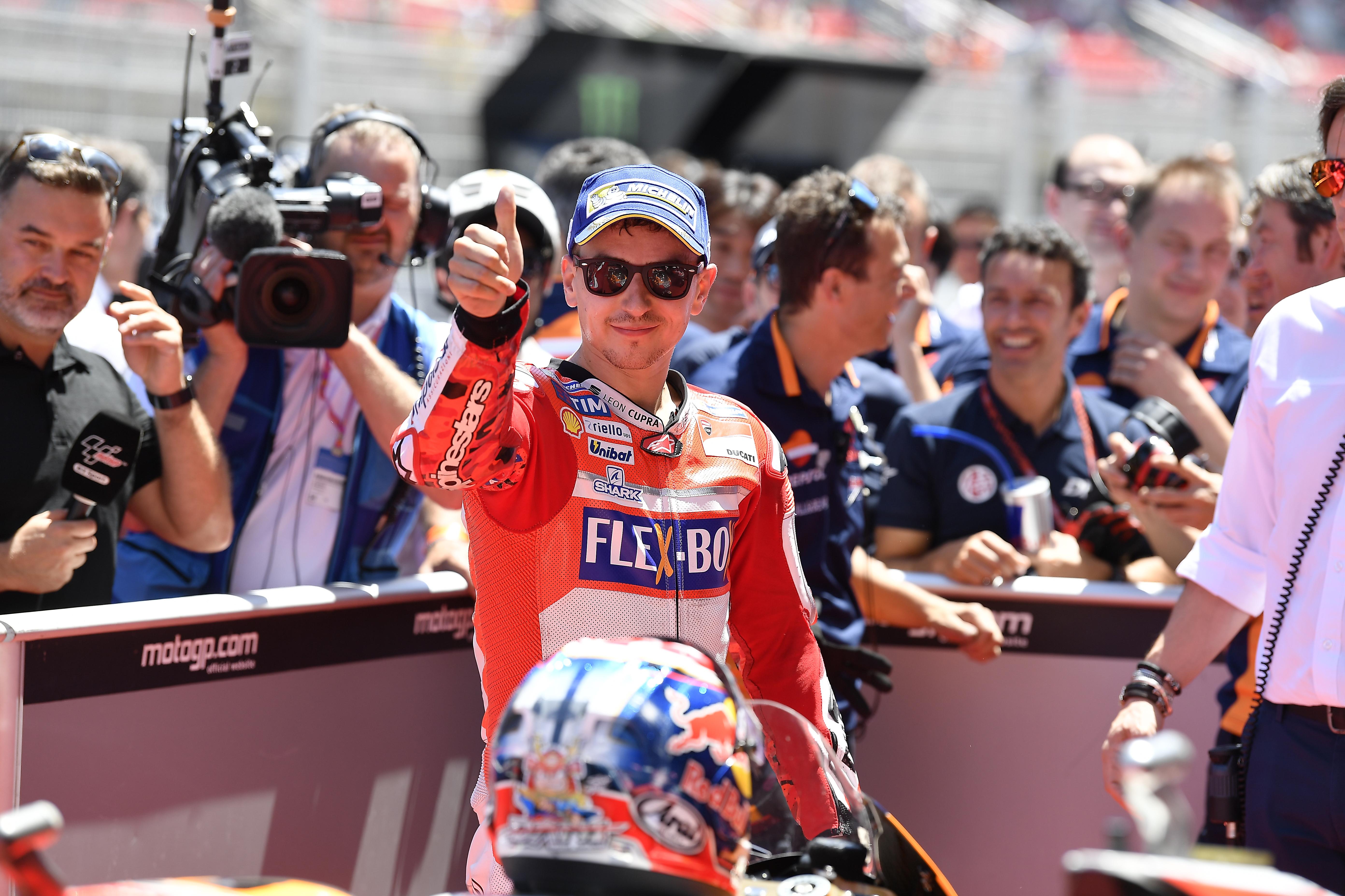 Jorge Lorenzo consigue la primera fila con Ducati
