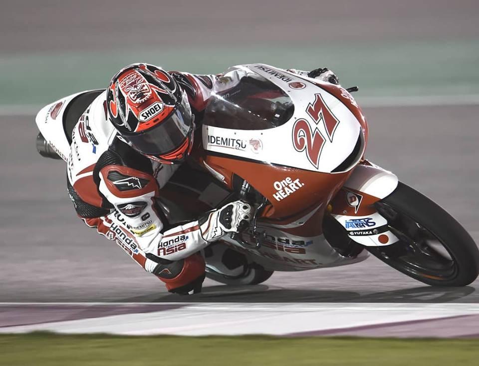 Kaito Toba vence una apretadísima carrera de Moto3 en el GP de Catar