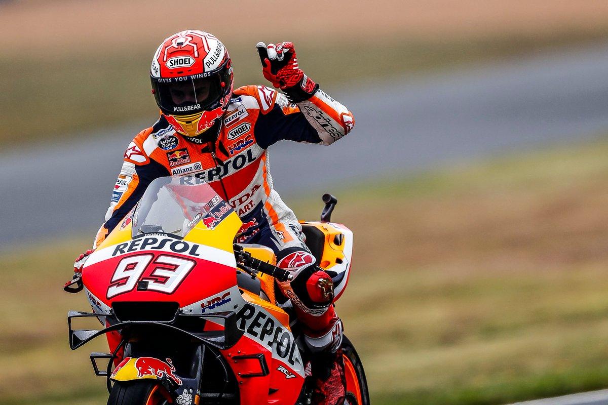 Marc Márquez se hace con su pole 55 de MotoGP bajo la lluvia en Le Mans