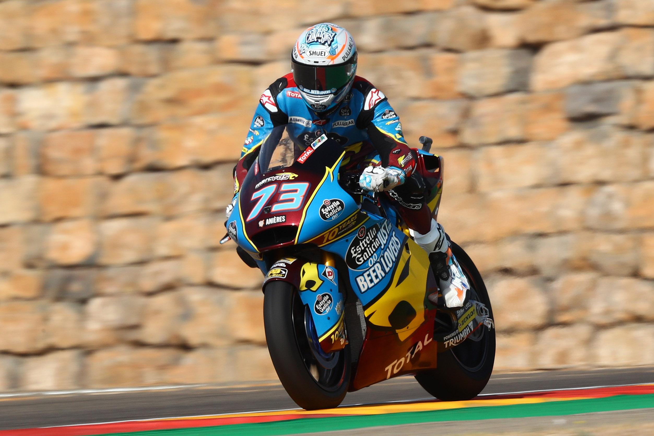 Álex Márquez domina en Moto2 y cierra un triplete español de poles