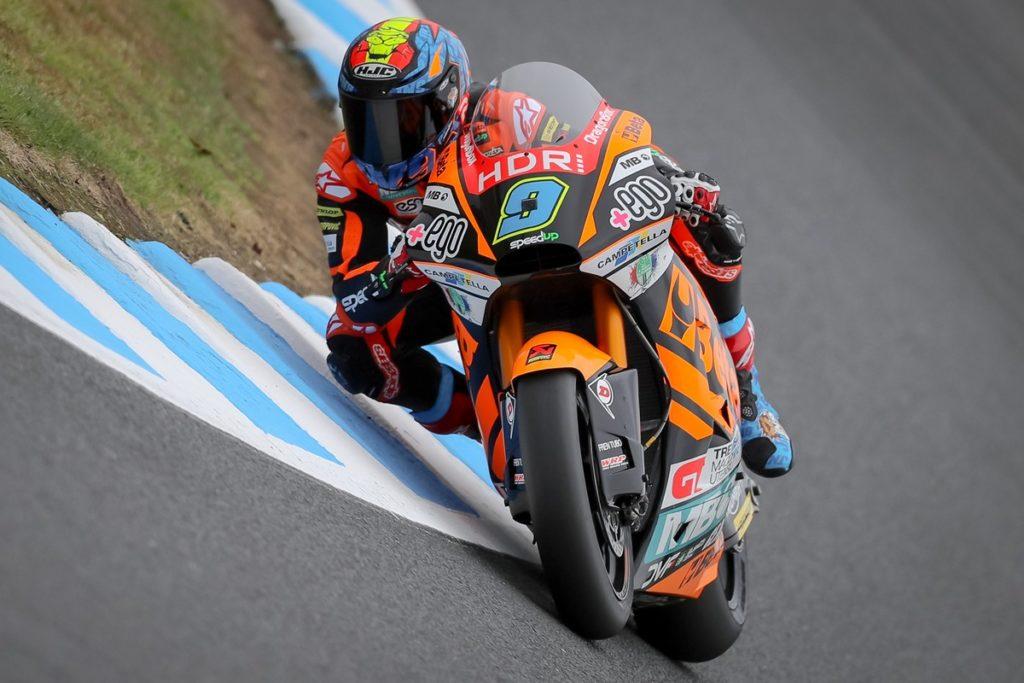 Jorge Navarro consigue la pole de Moto2 al aparecer la lluvia en Australia