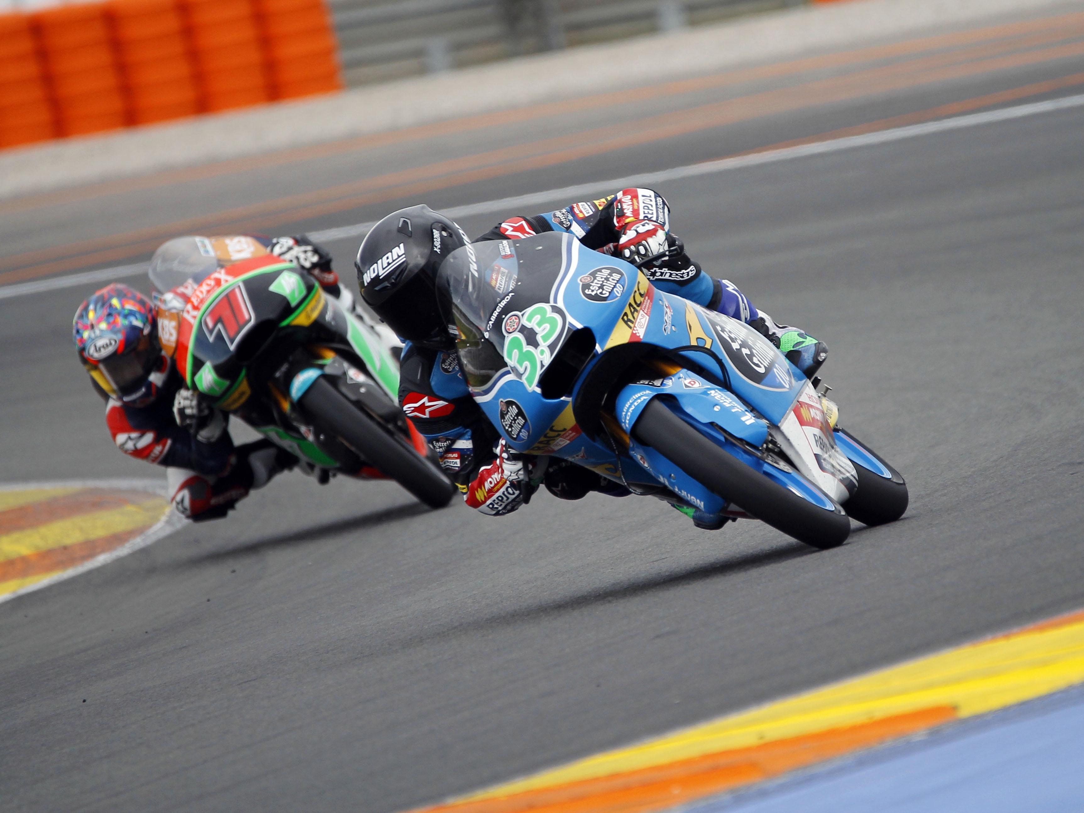 Los tiempos del test de Valencia de Moto2 y Moto3