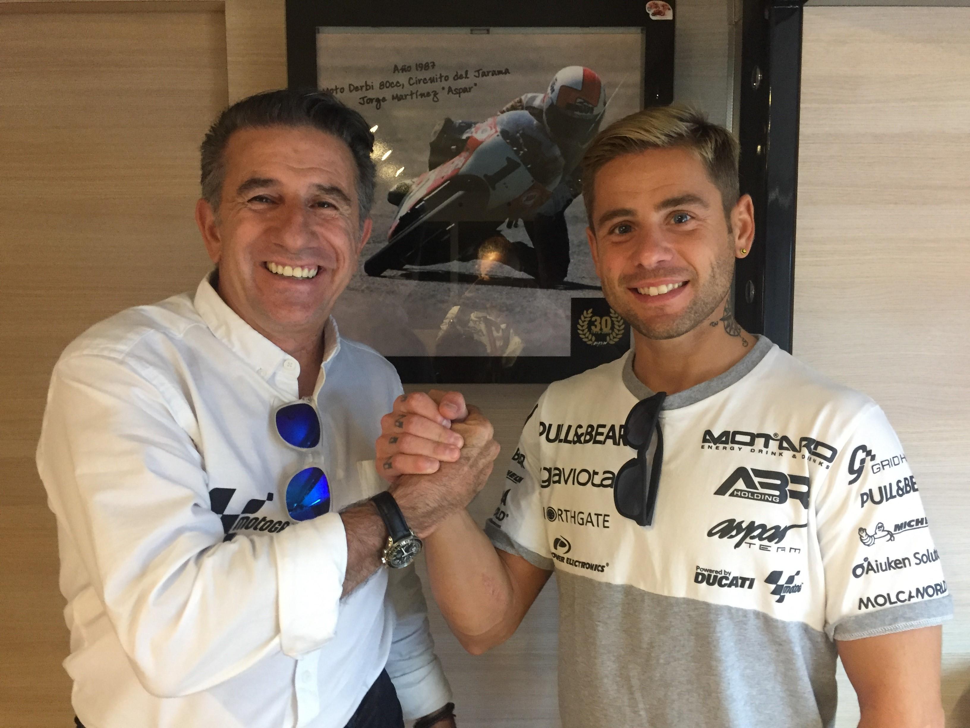 Álvaro Bautista oficializa su renovación con el Aspar Team
