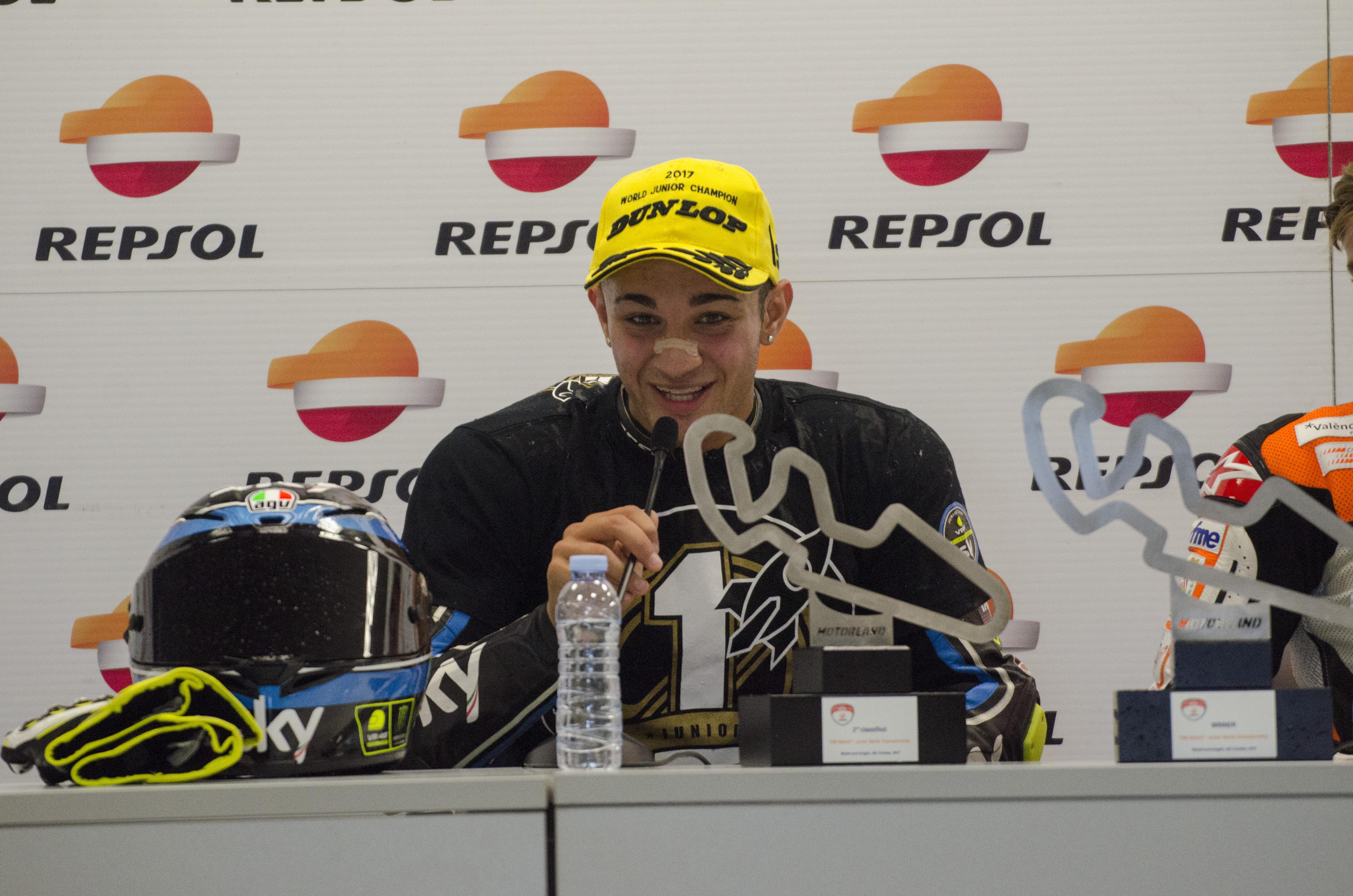 Dennis Foggia, Campeón del Mundo Junior de Moto3