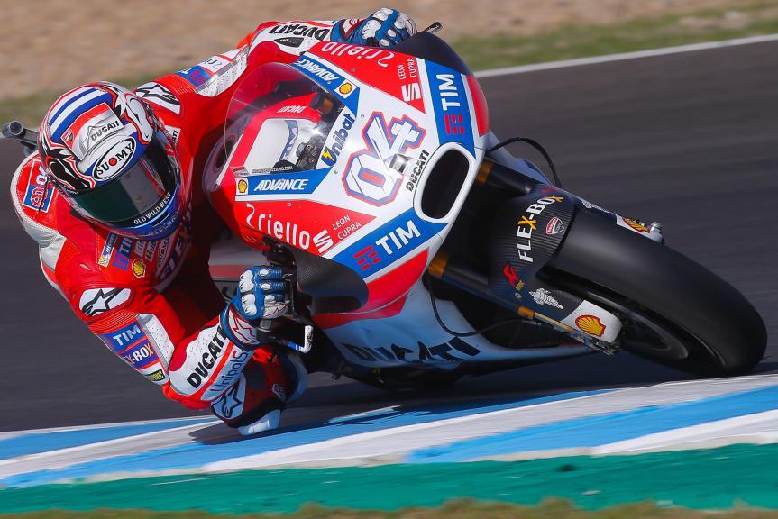 Test Jerez de MotoGP – Andrea Dovizioso termina el día por delante de Crutchlow y Lorenzo