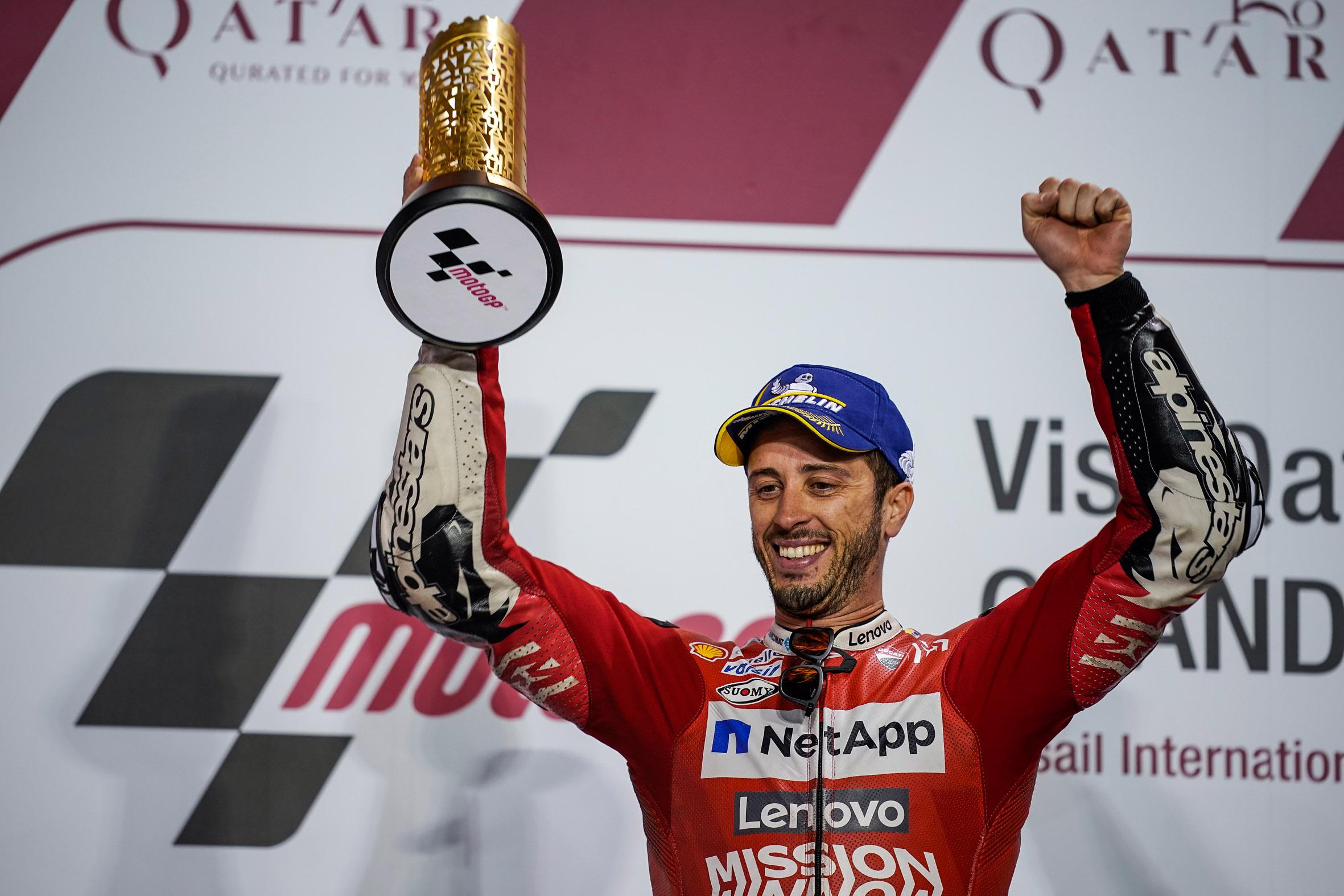 Confusión tras el GP de Qatar: La victoria de Andrea Dovizioso en cuarentena